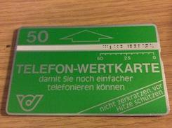 50 U. Green - Wertkarte  -  Fine Used  Nr .101A - Oesterreich