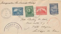 HAITI - PORT AU PRINCE - 1929 , Brief Mit PAN AM Nach Santiago De Chile - Haïti