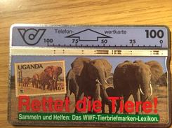 100u  Elefants  - Wertkarte  -  Used  Nr .106G - Oesterreich