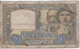 Billet De 20 Francs Science Et Travail 1941 - 1871-1952 Anciens Francs Circulés Au XXème