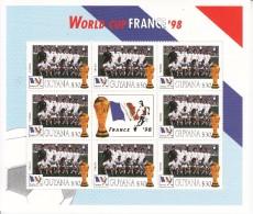 1998  Guyana World Cup Football France  Team TUNISIE Miniature Sheet Of 8 MNH. Great  Present! - Coupe Du Monde