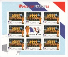 1998  Guyana World Cup Football France  Team ROMANIA Miniature Sheet Of 8 MNH. Great Christmas Present! - Coupe Du Monde