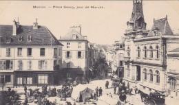 MEULAN 78 PLACE GENCY JOUR DE MARCHE BELLE CARTE RARE !!! - Meulan