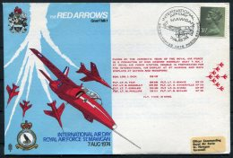 1974 GB Royal Air Force Flight Cover. Red Arrows RAF St Mawgan BFPS - 1952-.... (Elizabeth II)