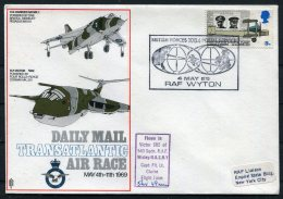 1969 GB Royal Air Force Flight Cover. Harrier, Victor BFPS - Empire State Building New York USA - 1952-.... (Elizabeth II)