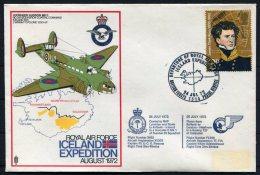 1972 GB Royal Air Force Flight Cover. Iceland Expedition Lockhead Hudson, BFPS RAF Lyneham Keflavik - 1952-.... (Elizabeth II)