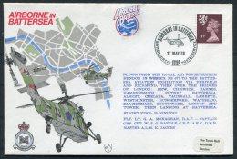 1978 GB Royal Air Force Flight Cover. Battersea BFPS Wessex Helicopter - 1952-.... (Elizabeth II)