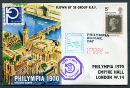 1970 GB Royal Air Force Flight Cover. London Philympia Airmail Day Stamp Exhibition Battersea, 38 Group RAF - 1952-.... (Elizabeth II)