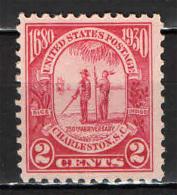 STATI UNITI - 1930 - 250° ANNIVERSARIO DELLA FONDAZIONE DI CHARLESTON - NUOVO MNH