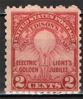 STATI UNITI - 1929 - EDISON - CINQUANTENARIO DELL'INVENZIONEDELLA LAMPADINA - NUOVO MNH