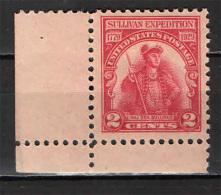 STATI UNITI - 1929 - 150° ANNIVERSARIO DEL RAID DEL GENERALE SULLIVAN CONTRO GLI IROCHESI - NUOVO MNH