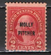 STATI UNITI - 1928 - IN ONORE DI MOLLY PICHTER - EROE DELLA BATTAGLIA DI MONMOUNTH NEL 1788 - NUOVO MNH