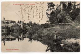"""LISLE SUR TARN--1909--Le Rivage (animée,pêcheur)-Beau Cachet Ambulant """"Toulouse à Brive"""".....pas Très Courante - Lisle Sur Tarn"""
