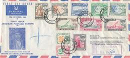 ZANZIBAR , SANSIBAR - 17.10.1961  FD  ,  R-Letter To Schönwald / Schwarzwald  -  Big Letter, Dispatch = 6,70 EURO (regis - Zanzibar (1963-1968)