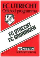 Programme Football 1986 1987 : FC Utrecht V FC Groningen (Holland) - Boeken