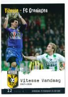Programme Football 2007 2008 : Vitesse Arnhem V FC Groningen (Holland) - Boeken