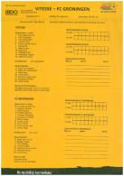 Team Sheet Football 2008 2009 : Vitesse Arnhem V FC Groningen (Holland) IS OOK PRESENTATIEGIDS - Boeken