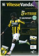 Programme Football 2010 2011 : Vitesse Arnhem V FC Groningen (Holland) - Boeken