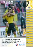 Programme Football 2007 2008 : VVV Venlo V FC Groningen (Holland) - Boeken