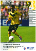 Programme Football 2010 2011 : VVV Venlo V FC Groningen (Holland) - Boeken