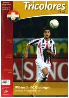 Programme Football 2007 2008 : Willem II V FC Groningen (Holland) - Boeken