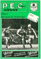 Programme Football 1984 1985 : PEC Zwolle V FC Groningen (Holland) - Boeken