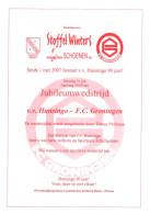 Programme Football 2007 2008 : Hunsingo V FC Groningen (Holland) FRIENDLY - Boeken