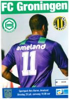 Programme Football 2008 2009 : Veendam V FC Groningen (Holland) FRIENDLY Op Ameland Bij Geel Wit - Boeken