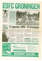 Programme Football 2008 2009 : VVOG Harderwijk V FC Groningen (Holland) FRIENDLY - Boeken