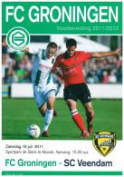 Programme Football 2011 2012 : Veendam V FC Groningen (Holland) FRIENDLY In Mussel - Boeken