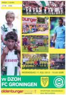 Programme Football 2012 2013 : DZOH V FC Groningen (Holland) FRIENDLY - Boeken
