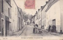 SAINT LEGER EN YVELINES 78 LA GRANDE RUE  BELLE CARTE ANIMEE RARE !!! - St. Leger En Yvelines