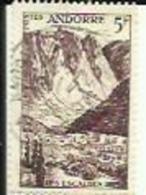 Timbre Poste D'Andorre 5 Fr Obliteré ( LES ESCALDES ) - Andorre Français