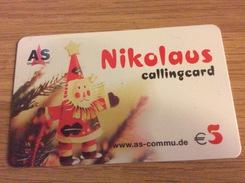 Nice  Prepaid Card - AS Communications - Nikolaus / Santa Claus   Net 5€   -   Mint - Deutschland