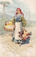 Italy L'Uvaigla Local Woman In Traditional Costume 1907