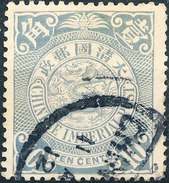 Stamp China Coil Dragon Chinese Imperial Post 10c 1905-10 Used Lot21 - China