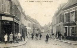 62 FRUGES Rue De L´Eglise,,Très Animée - Fruges