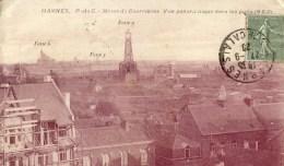 62 HARNES  Vue Panoramique Mines De Courrières  Vers Les Puits 9-6-3 - Harnes