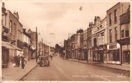 "06460 ""UXBRIDGE  - MAIN STREET - MIDDLESEX - ENGLAND"" ANIMATA, AUTO ANNI '30. CART. ILL. ORIG. SPED. 1952 - Middlesex"