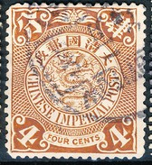 Stamp China Coil Dragon Chinese Imperial Post 4c 1898-1900 Used Lot42 - Oblitérés