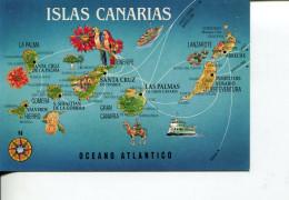 (DEL 820) Map Islas Canarias - Carte Geografiche