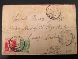 """BUSTA POSTALE-ERBA-11-1-1928-AFFRANCATA  CON 5 CENT.+CENT.25 """"ALESSANDRO VOLTA"""" - Storia Postale"""
