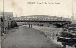 62 HARNES Le Pont Du Rivage  Péniches - Harnes