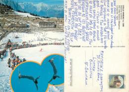 Ski Jumping, Colle Vareno, BS Brescia, Italy Postcard Posted 1986 Stamp - Brescia
