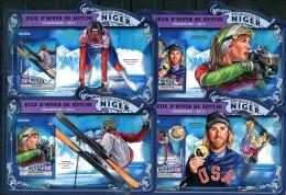 NIGER  SOCHI 2014 OLYMPIC RUSSIA   WINNERS 4 S/S PERF MNH - Winter 2014: Sochi