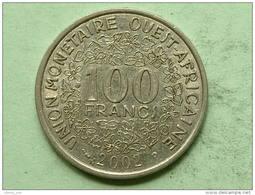 2002 - 100 FRANCS / AFRIQUE DE L´OUEST / KM 4 ( Uncleaned Coin / For Grade, Please See Photo ) !! - Coins