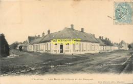 80 Chaulnes, Les Rues De Lihons Et Du Bosquet, Carte Pas Très Courante Affranchie 1905 - Chaulnes