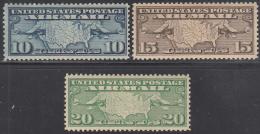 UNITED STATES     SCOTT NO.  C7-9     MINT HINGED       YEAR  1926