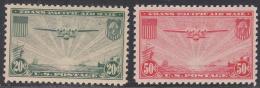 UNITED STATES     SCOTT NO.  C21-22    MINT HINGED     YEAR  1937