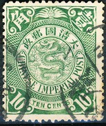 Stamp China Coil Dragon Chinese Imperial Post 10c 1898-1900 Used Lot13 - China